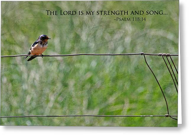 Bible Verse Greeting Cards - My Strength Greeting Card by Bonnie Bruno