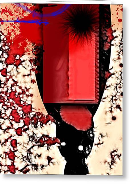 Red Abstracts Greeting Cards - My Thoughts Hurt Greeting Card by Stylianos Kleanthous