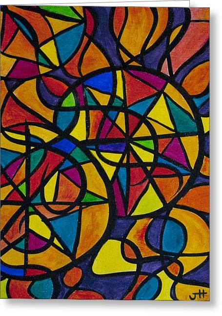 My Three Suns Greeting Card by Jaime Haney