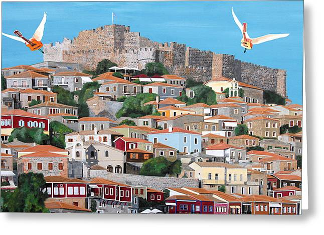 Ellenisworkshop Greeting Cards - My Town  Greeting Card by Eric Kempson