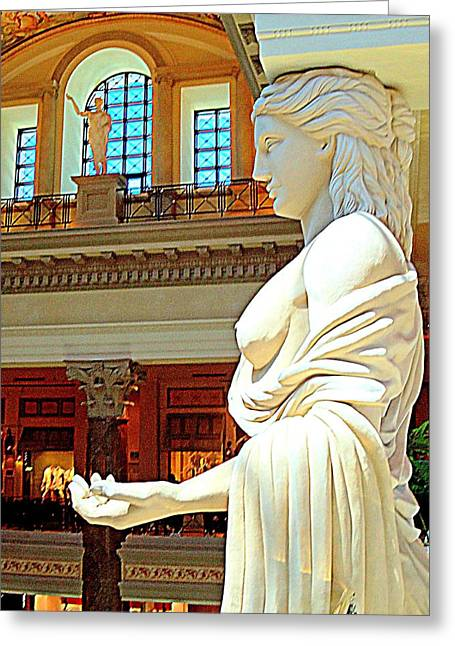 The Vault Greeting Cards - My Vegas Caesars 17 Greeting Card by Randall Weidner
