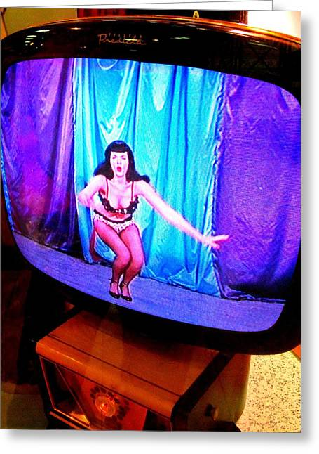My Vegas Caesars 23 Betty Page Greeting Card by Randall Weidner