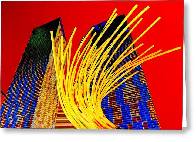 My Vegas City Center 28 Greeting Card by Randall Weidner