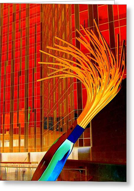 Oldenburg Greeting Cards - My Vegas City Center 32 Greeting Card by Randall Weidner