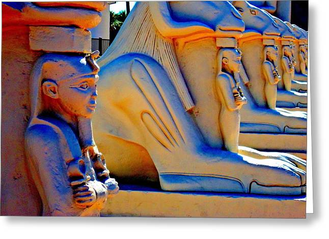 Luxor Greeting Cards - My Vegas Luxor 7 Greeting Card by Randall Weidner