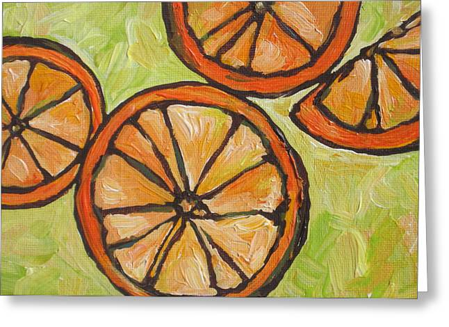 Grapefruit Paintings Greeting Cards - My Vitamin C Greeting Card by Sandy Tracey