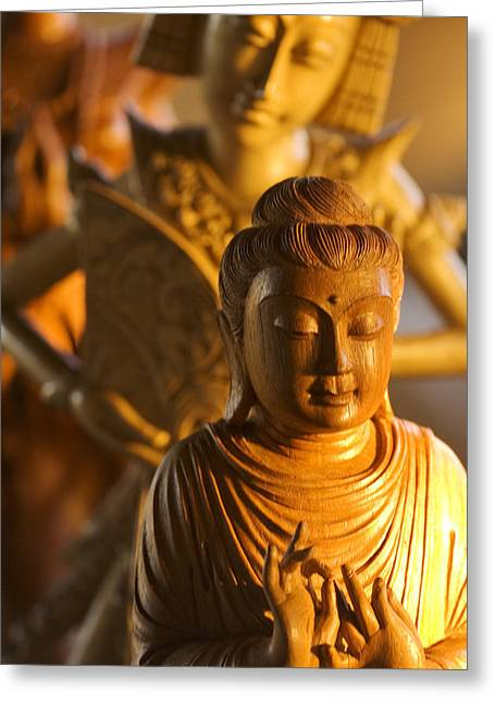 Culture Influenced Art Greeting Cards - Myanmar Buddha Greeting Card by Ron Dahlquist - Printscapes