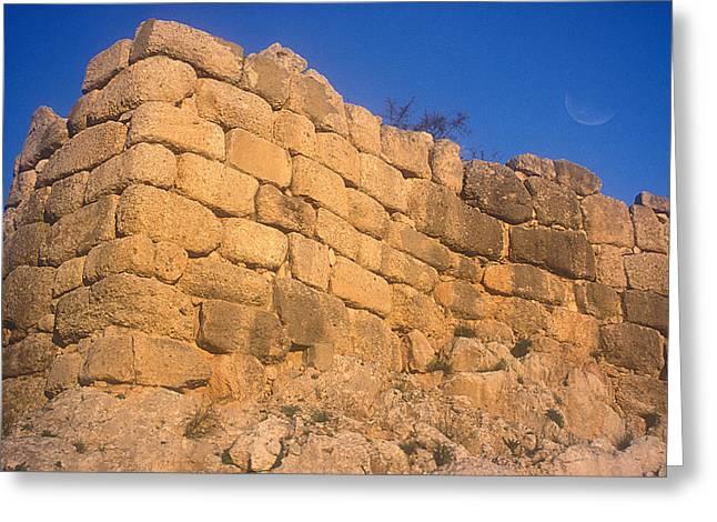 Mycenae Walls Greeting Card by Andonis Katanos