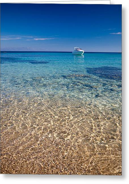 Greece Photographs Greeting Cards - Mykonos beach Greeting Card by Neil Buchan-Grant