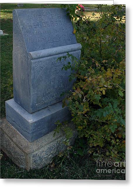 Headstones Photographs Greeting Cards - Myrtle at Rest Greeting Card by Peter Piatt