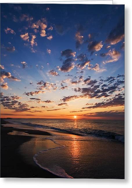 Myrtle Greeting Cards - Myrtle Beach South Carolina Sunrise Greeting Card by Stephanie McDowell