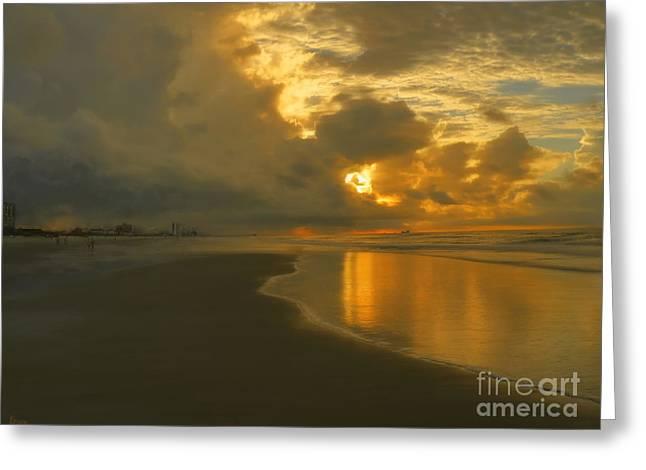 Myrtle Greeting Cards - Myrtle Beach Sunrise Greeting Card by Jeff Breiman