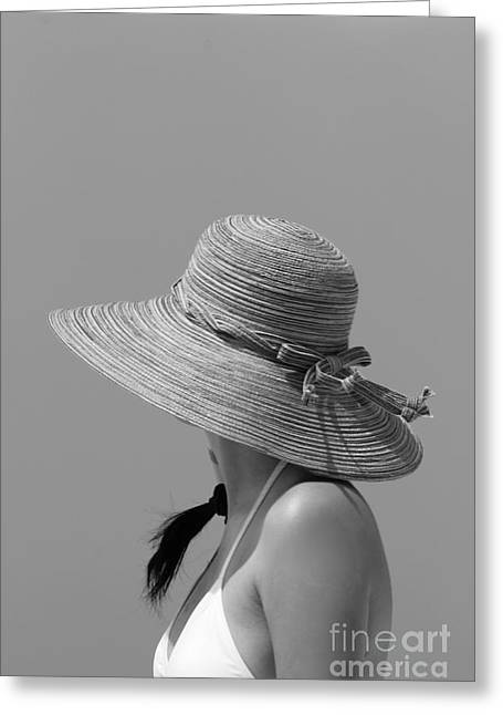 Sun Hat Greeting Cards - Mysterious Greeting Card by Sophie Vigneault