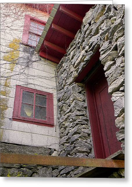 Mystery Of The Red Door Greeting Card by Sandi OReilly
