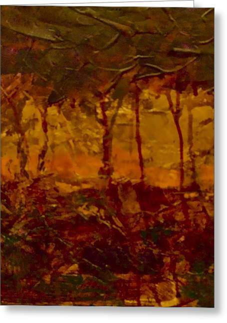 Raw Umber Greeting Cards - Mystic Forest Greeting Card by Jim Ellis