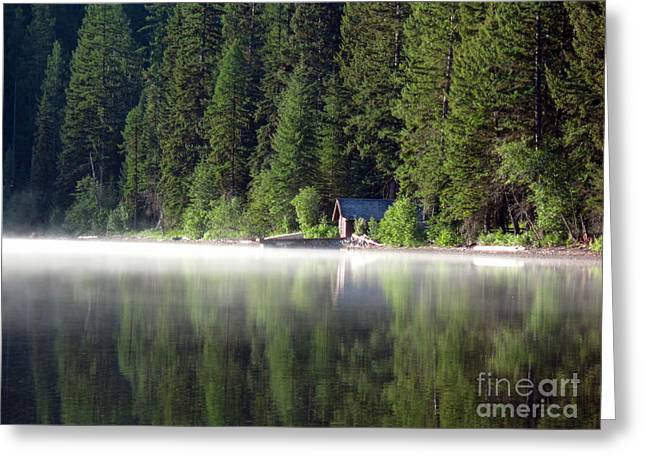 Kintla Lake Greeting Cards - Mystic Kintla Reflections 1 Greeting Card by Scotts Scapes