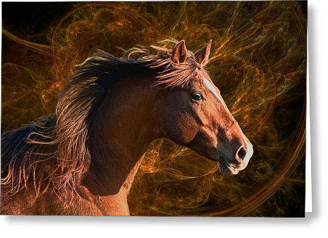 Equine Art Work Greeting Cards - Mystic Mare Greeting Card by Katie Abrams