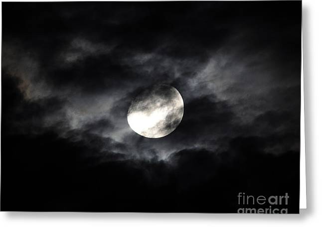 Mystic Moon Greeting Card by Al Powell Photography USA