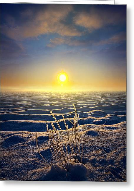 Geographic Greeting Cards - Mystic Rising Greeting Card by Phil Koch
