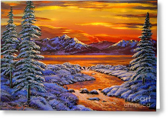 Best Sellers Greeting Cards - Mystic Winter Greeting Card by David Lloyd Glover