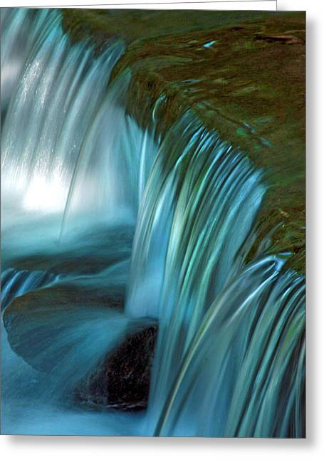 Babbling Greeting Cards - Mystical Falls Greeting Card by Mike Flynn