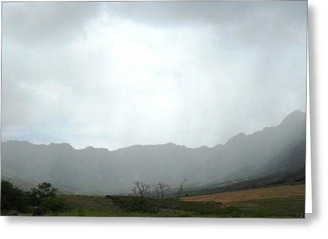 Mystical Landscape Greeting Cards - Mystical Makua Valley Greeting Card by Carol Brown