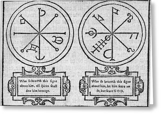 Mystical Pendants, 16th Century Greeting Card by Middle Temple Library