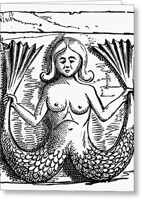 Girondin Greeting Cards - Mythology: Mermaid Greeting Card by Granger