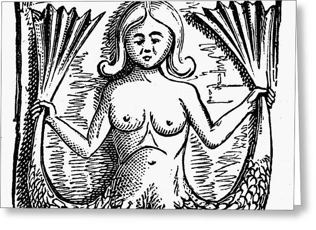 MYTHOLOGY: MERMAID Greeting Card by Granger