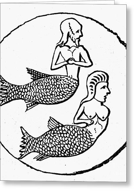 Mythology: Mermen Greeting Card by Granger