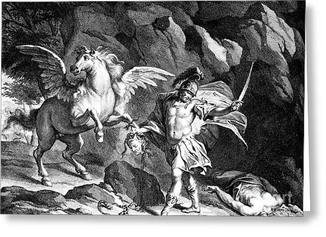 Medusa Greeting Cards - Mythology: Perseus Greeting Card by Granger
