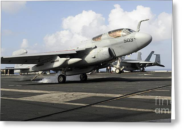 N Ea-6b Prowler Makes An Arrested Greeting Card by Stocktrek Images