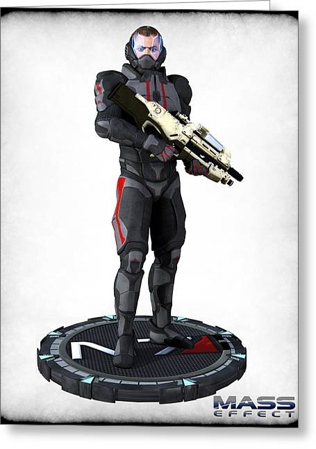 Frederico Borges Digital Greeting Cards - N7 soldier v2 Greeting Card by Frederico Borges