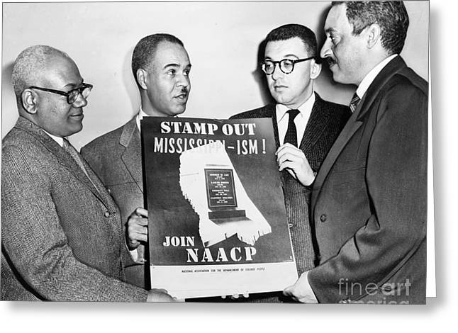 Naacp Greeting Cards - Naacp Leaders, 1956 Greeting Card by Granger