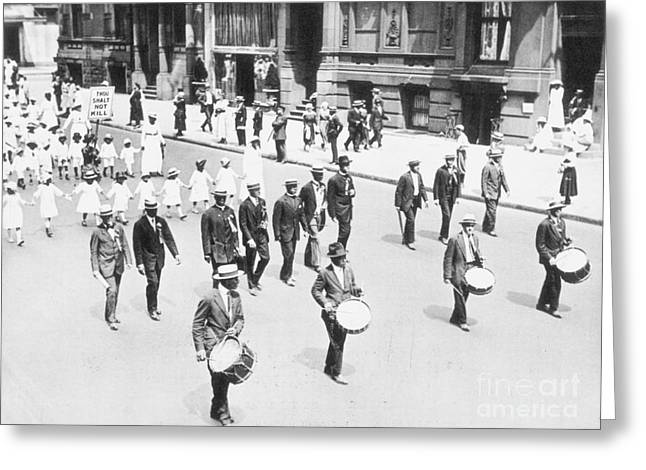 Naacp Greeting Cards - Naacp Parade, Nyc, 1917 Greeting Card by Granger