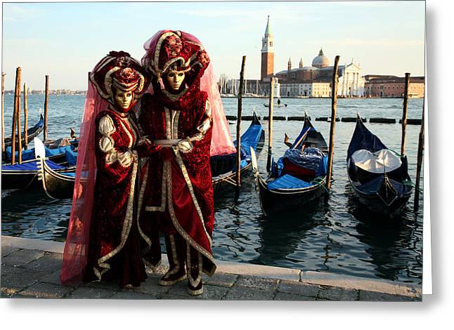 Nadine Greeting Cards - Nadine and Daniel Across San Giorgio Greeting Card by Donna Corless