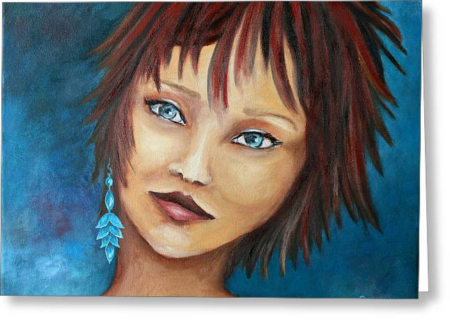 Young Teen Greeting Cards - Nadine Greeting Card by Jutta Maria Pusl