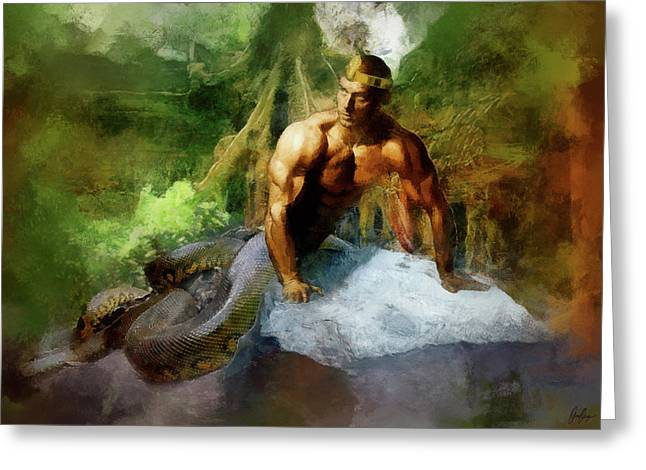 Dawid Greeting Cards - Naga - King Cobra Greeting Card by Marcin and Dawid Witukiewicz