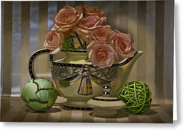 Photo Realism Greeting Cards - Naimark Teapot Greeting Card by Tony Chimento