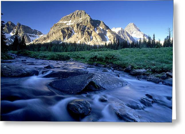 Brookes Greeting Cards - Naisett Point, Mt Assiniboine And Magog Greeting Card by David Nunuk