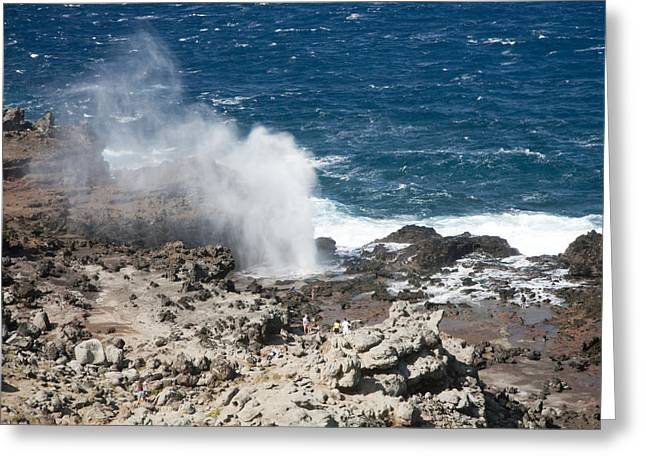 Nakalele Blow Hole Greeting Cards - Nakalele Point Greeting Card by Peter French - Printscapes