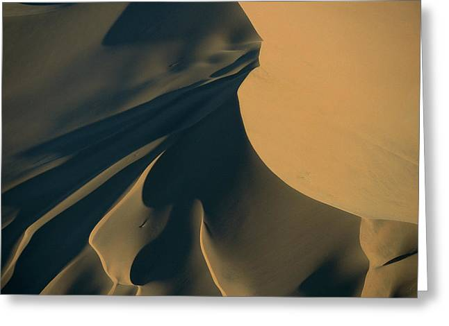 Ai Greeting Cards - Namib Desert Sand Dunes, Tallest Sand Greeting Card by Robyn Stewart