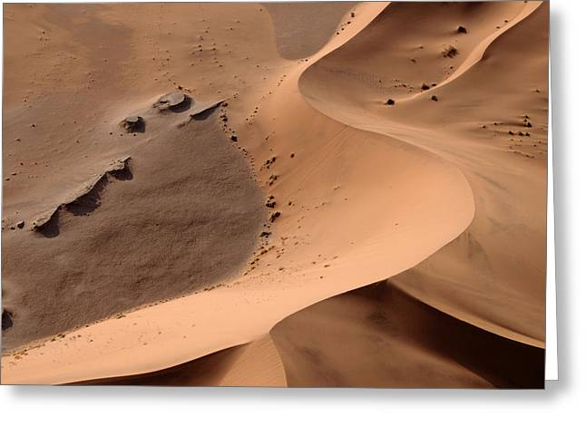 Namibia Aerial II Greeting Card by Nina Papiorek