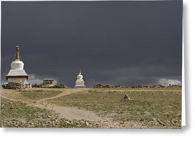 Tibetan Buddhism Greeting Cards - Namtso In The Nyainqentanglha Mountain Greeting Card by Phil Borges