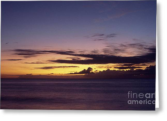 After Sunset Greeting Cards - Nanakuli Beach after Sunset Greeting Card by Thomas R Fletcher