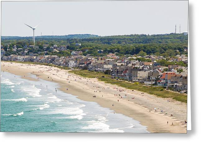 Nantasket Beach Greeting Cards - Nanasket South Greeting Card by Lucy Wightman