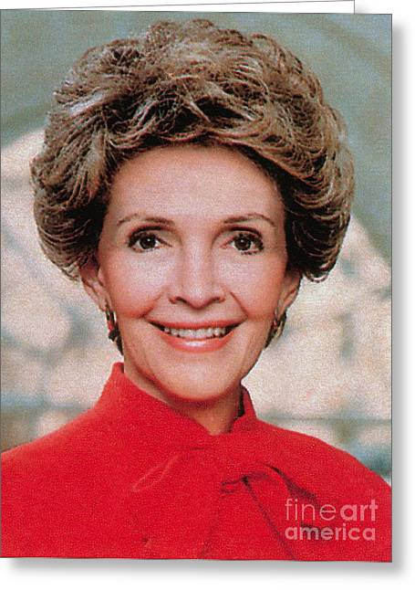 Initiative Greeting Cards - Nancy Reagan, 40th First Lady Greeting Card by Photo Researchers