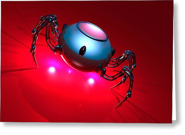 Nanorobot, Conceptual Artwork Greeting Card by Victor Habbick Visions