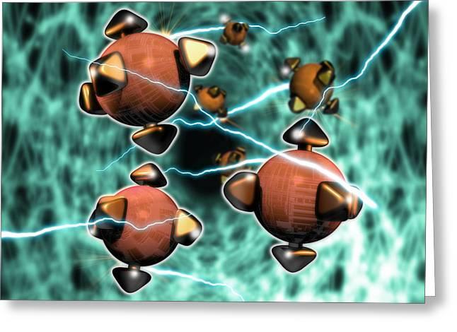 Micromechanics Greeting Cards - Nanorobots Greeting Card by Victor Habbick Visions