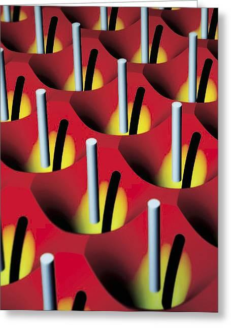 Yang Greeting Cards - Nanowire Tweezers, Computer Artwork Greeting Card by Peidong Yanguc Berkeley